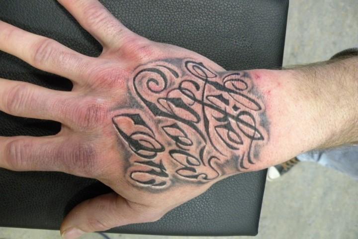 Lettering Frenkey Tattoo The Hague